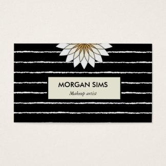 メーキャップアーティストの黒の花の専門ビジネス 名刺