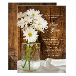 メーソンジャーおよびデイジーの国のポストの結婚式のブランチ 12.7 X 17.8 インビテーションカード
