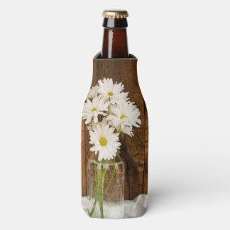 メーソンジャーおよび白いデイジーの国の納屋の結婚式 ボトルクーラー