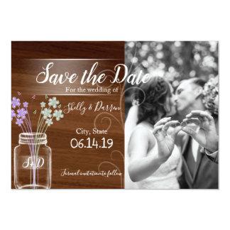 メーソンジャーの国の結婚式の保存日付カード カード