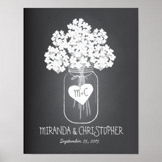 メーソンジャーの家族によって確立される結婚ポスター ポスター