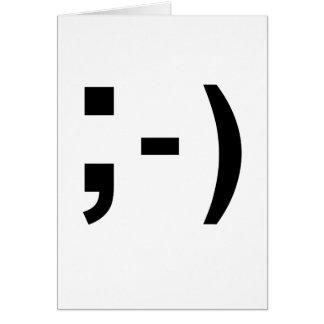 メールや文字を打つの句読点スマイリーマーク グリーティングカード