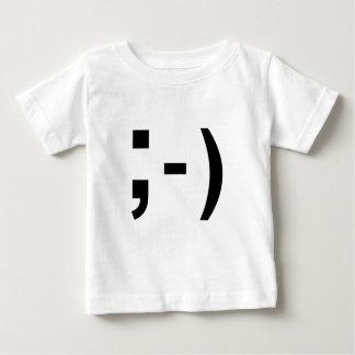 メールや文字を打つの句読点スマイリーマーク ベビーTシャツ