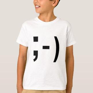 メールや文字を打つの句読点スマイリーマーク Tシャツ