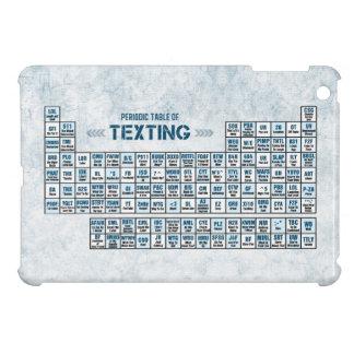 メールや文字を打つの周期表(青い) iPad MINI CASE