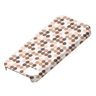 モカ水玉模様のiPhone 5の場合 iPhone SE/5/5s ケース