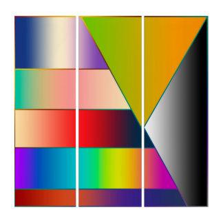 モザイクストライプな三角形の勾配I + あなたのアイディア トリプティカ