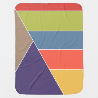 モザイクストライプな三角形はIを着色しました + あなたのアイディア ベビー ブランケット