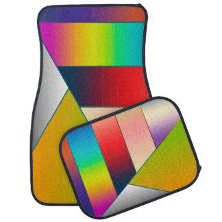 モザイクストライプな三角形はIIを着色しました + あなたのアイディア カーマット