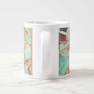 モザイクマグ ジャンボコーヒーマグカップ