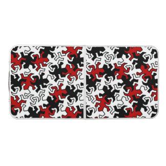 モザイクヤモリパターン-赤い白黒 ビアポンテーブル