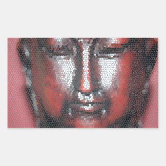 モザイク仏 長方形シール