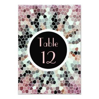 モザイク床はエレガントなテーブルカードをタイルを張ります カード