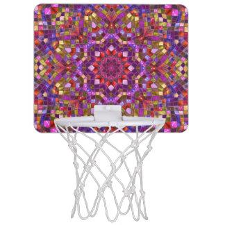 モザイク模様の小型バスケットボールのゴール ミニバスケットボールゴール