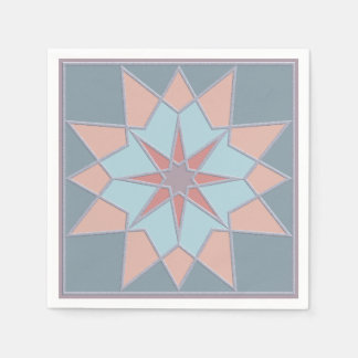 モザイク模様の紙ナプキン スタンダードカクテルナプキン