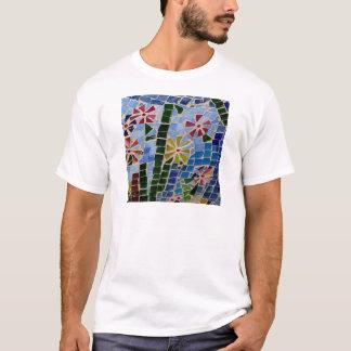 モザイク花 Tシャツ