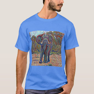 モザイク象 Tシャツ