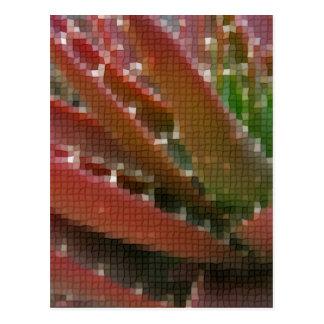 モザイク赤緑のアロエ4 ポストカード
