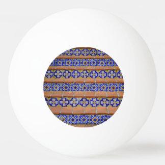 モザイク階段 卓球ボール