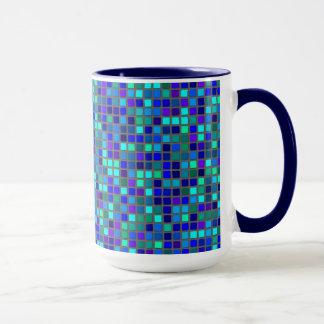 モザイク青 マグカップ