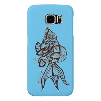 モザイク魚の電話箱 SAMSUNG GALAXY S6 ケース