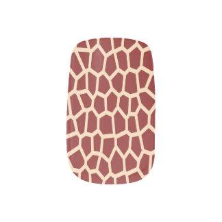 モザイク・タイルのUの一突き色のブラウンのキリンのプリント ネイルアート