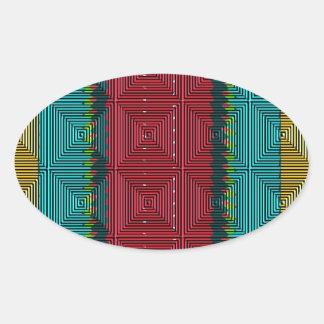モザイク 楕円形シール