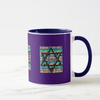モザイクShalomダビデの星 マグカップ