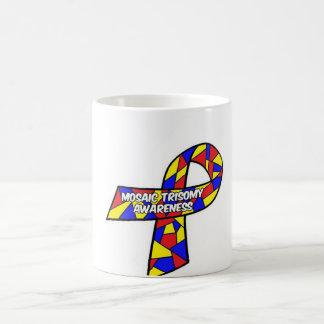 モザイクTrisomyの認識度のマグ コーヒーマグカップ