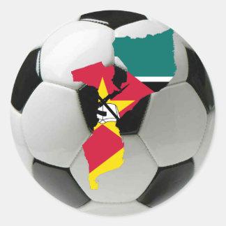 モザンビークのフットボールのサッカー ラウンドシール