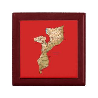 モザンビークの地図のギフト用の箱 ギフトボックス