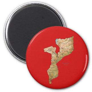 モザンビークの地図の磁石 マグネット