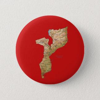 モザンビークの地図ボタン 5.7CM 丸型バッジ