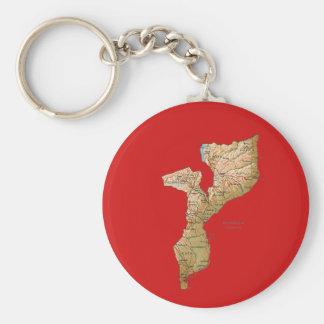 モザンビークの地図Keychain キーホルダー