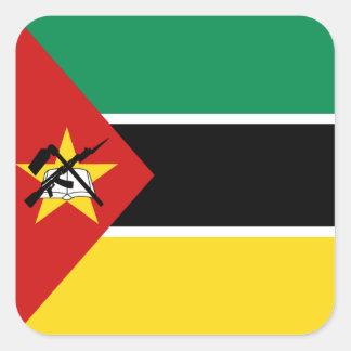 モザンビークの旗のステッカー スクエアシール