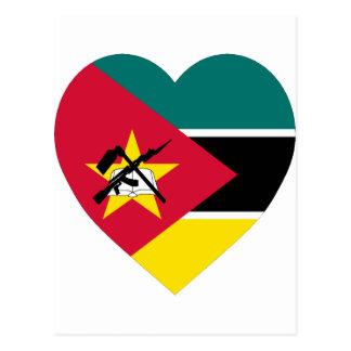 モザンビークの旗のハート ポストカード