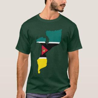 モザンビークの旗の地図 Tシャツ