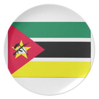 モザンビークの旗 ディナープレート