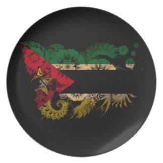 モザンビークの旗 パーティー皿