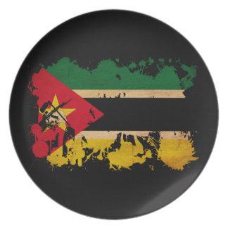 モザンビークの旗 プレート