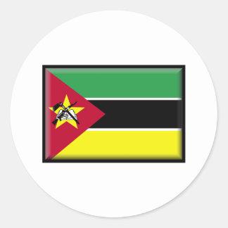モザンビークの旗 ラウンドシール