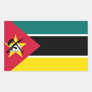 モザンビークの旗 長方形シール