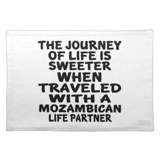 モザンビークの生命パートナーと走行される ランチョンマット