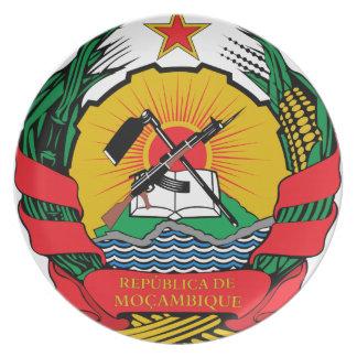 モザンビークの紋章付き外衣 お皿