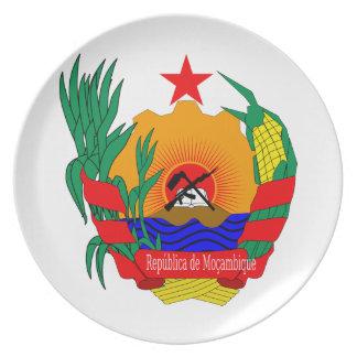 モザンビークの紋章付き外衣 パーティープレート