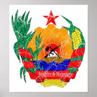 モザンビークの紋章付き外衣 ポスター