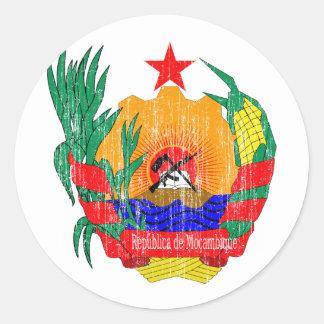 モザンビークの紋章付き外衣 ラウンドシール