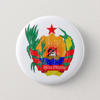 モザンビークの紋章付き外衣 缶バッジ