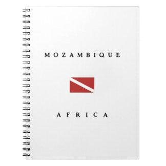 モザンビークアフリカのスキューバ飛び込みの旗 ノートブック