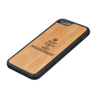モザンビーク穏やか、訪問保って下さい CarvedチェリーiPhone 6バンパーケース